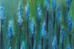 GBK Blauw blue acryl op doek 30-40