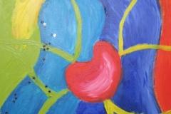 2010 Geliefd kind zijn, Acryl op doek 30x40