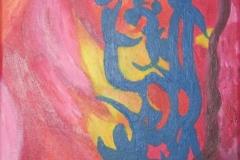 2010 levensloop 1952-1955 Acryl op doek 30x30 niet te koop