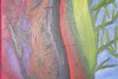 2010 levensloop 1955-1968 Acryl op doek 30x30 niet te koop