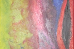 2010 levensloop 1968- 1973 Acryl op doek 30x30 niet te koop