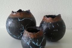 2016 Trio pots, handgevormd € 65,00 per set