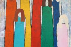2020-Circle-of-women-stap-27-mixedmedia-rijspapier-sjabloon-en-acryl