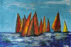 GBKsail away acryl op doek 80-60