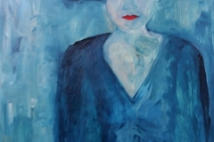 Cappello blu ( blauwe hoed)